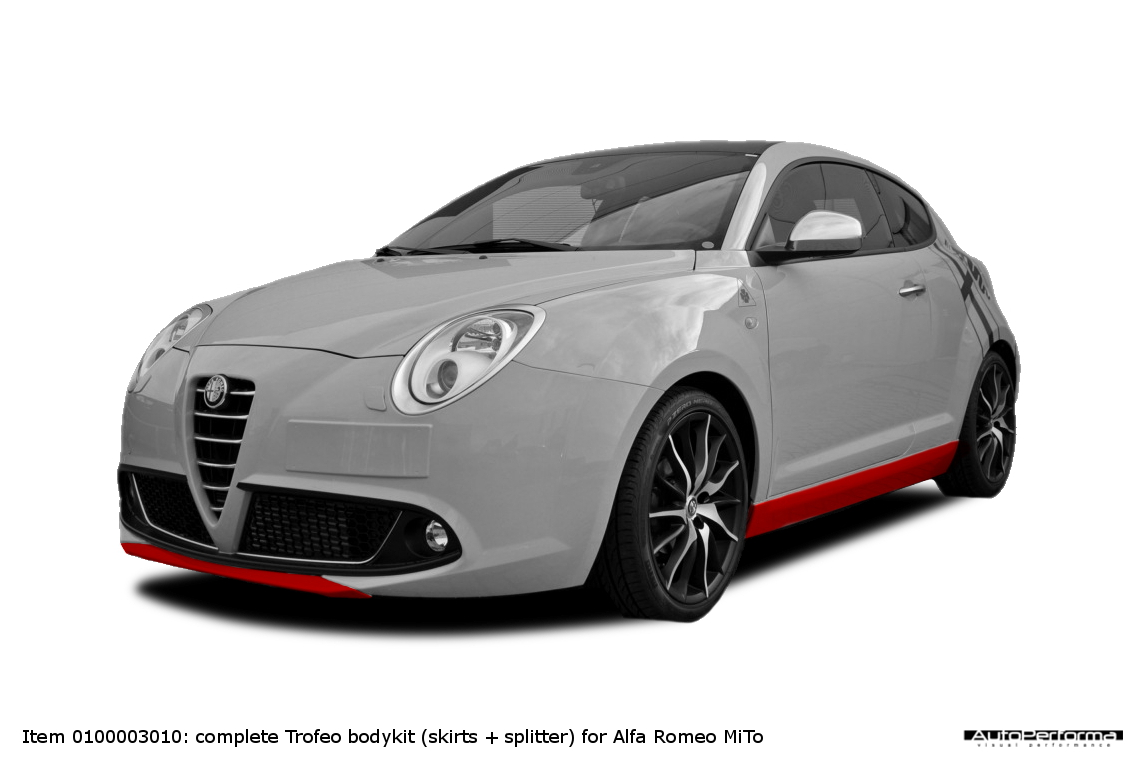 bodykit for alfa romeo mito autoperforma visual. Black Bedroom Furniture Sets. Home Design Ideas