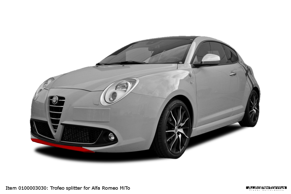 splitter for alfa romeo mito autoperforma visual performance. Black Bedroom Furniture Sets. Home Design Ideas